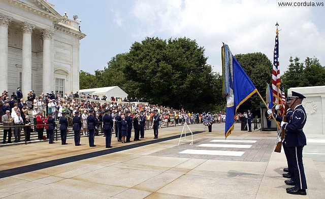 Cordula's Web. USAF. Ceremony at Arlington National Cemetery's Tomb of the Unknowns.