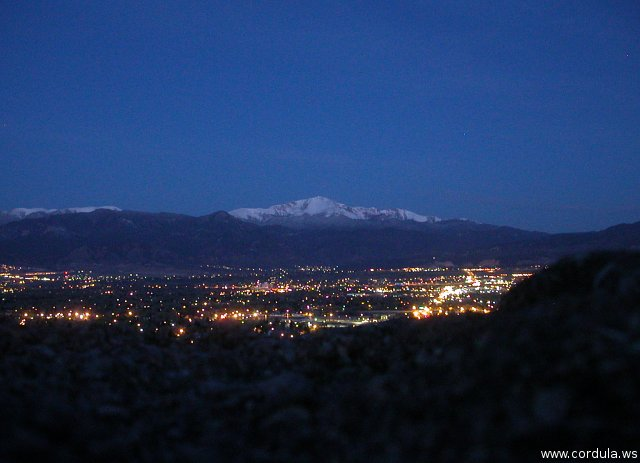 Cordula's Web. Flickr. Sunrise over Pikes Peak and Colorado Springs.