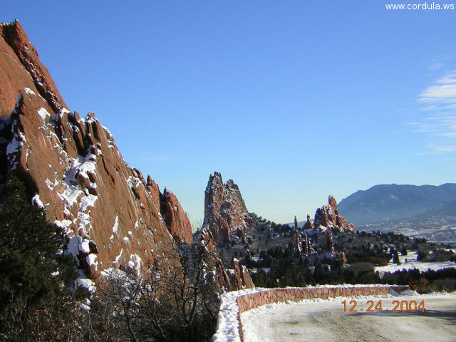 Cordula's Web. Flickr. Snowy Rocks, Flatirons in the sun. Garden of the Gods, Colorado Springs.
