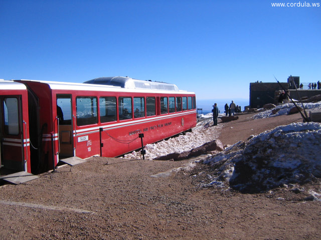 Cordula's Web. Flickr. Cog Railway Car, Pikes Peak.