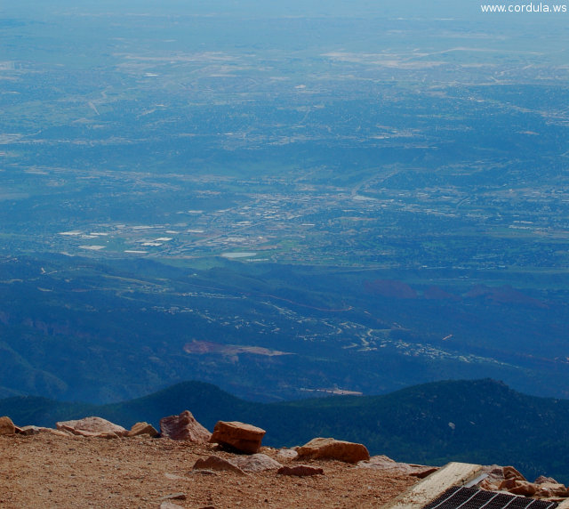 Cordula's Web. Flickr. Colorado Springs seen from Pikes Peak.