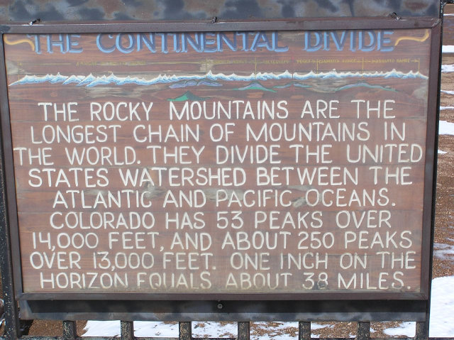 Cordula's Web. Flickr. The Continental Divide, Pikes Peak.