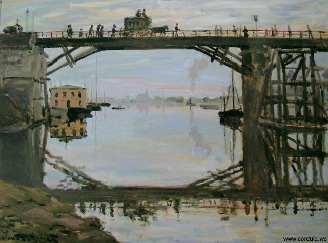 Cordula's Web. Claude Monet: The Wood Bridge, 1872.