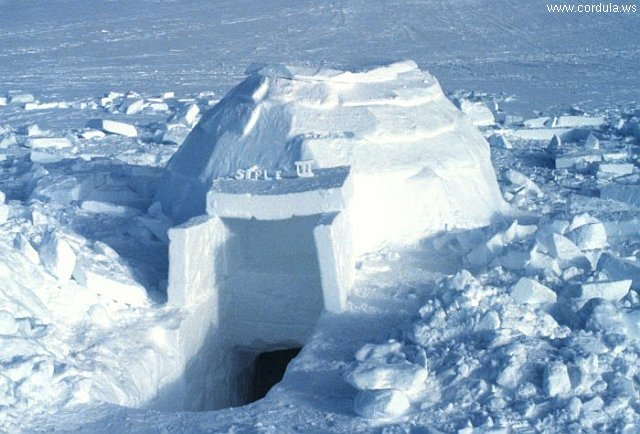 Cordula's Web. NOAA. Igloo, South Pole Expedition.