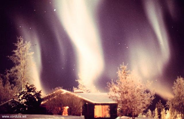 Cordula's Web. NOAA. Aurora borealis in vicinity of Anchorage.