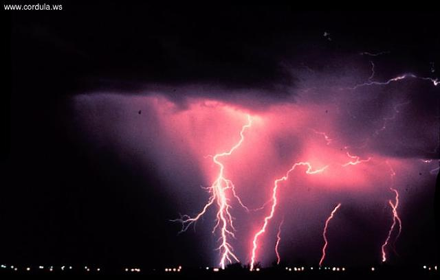 Cordula's Web. NOAA. Night-time thunderstorm in Norman, Oklahoma.