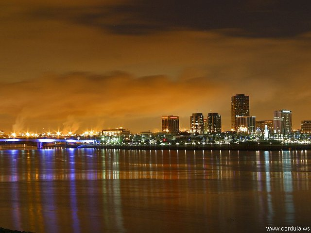 Cordula's Web. PDPHOTO.ORG. Long Beach Skyline by Night.