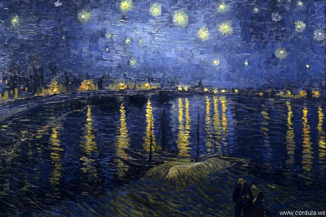 Cordula's Web. Wikicommons. Starry Night Over the Rhone, Arles. Vincent van Gogh.