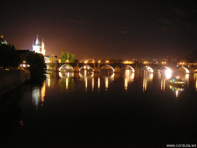 Cordula's Web. Wikicommons. Charles Bridge at Night, Prague.